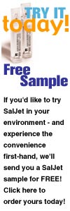 Get a free sample of Saljet today!