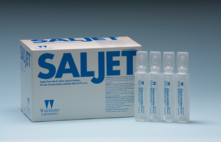 Saljet Saline Bullets for woundcare